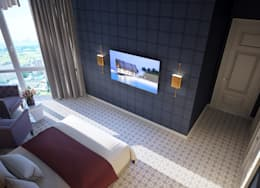 غرفة نوم تنفيذ Natalia Solo Design