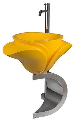 Papavero: Bagno in stile in stile Moderno di Materico by Ortolan