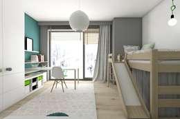 Dormitorios infantiles de estilo moderno por BAGUA Pracownia Architektury Wnętrz