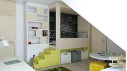 Projekt domu jednorodzinnego 3 (wykonany dla A2.Studio Pracownia Architektury): styl , w kategorii Pokój dziecięcy zaprojektowany przez BAGUA Pracownia Architektury Wnętrz