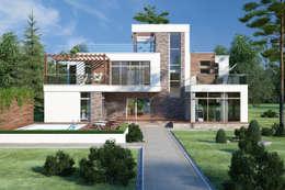 Дома в стиле минимализм: Дома в . Автор – Студия Ксении Седой