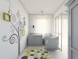 Mieszkanie 2: styl , w kategorii Pokój dziecięcy zaprojektowany przez BAGUA Pracownia Architektury Wnętrz