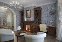 Oficinas de estilo colonial por Студия Ксении Седой