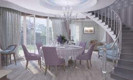 Дом- как мир.: Столовые комнаты в . Автор – Студия Ксении Седой