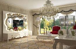 Inan AYDOGAN /IA  Interior Design Office – AVANGARDE BEDROOM: klasik tarz tarz Oturma Odası
