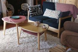Столовая комната в . Автор – Atelier Recycl'et Bois