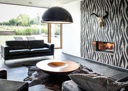 Projekty,  Salon zaprojektowane przez Maisons Loginter