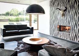 moderne Woonkamer door Maisons Loginter