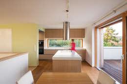 Energieeffizienter Landsitz bei Bratislava: moderne Küche von Abendroth Architekten