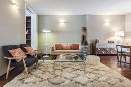 Ana Rita Soares- Design de Interiores: eklektik tarz tarz Oturma Odası