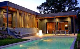 Vue de nuit: Maisons de style de style Moderne par Gilles Cornevin SARL
