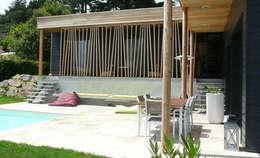 Maison Le K / Vandel - 44: Terrasse de style  par Gilles Cornevin SARL