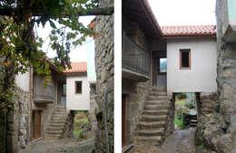 REHABILITACIÓN DE VIVIENDA UNIFAMILIAR Y ANEXOS EN STA. EUFEMIA: Casas de estilo rural de arquitectura SEN MÁIS