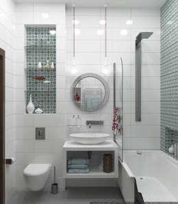Baños de estilo escandinavo de Olesya Parkhomenko