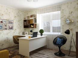 Projekty,  Domowe biuro i gabinet zaprojektowane przez Olesya Parkhomenko
