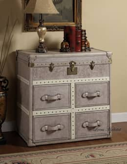 Vintage Leather Storage Cabinet: classic Living room by Locus Habitat