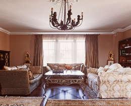 Гостевой дом _ реконструкция: Гостиная в . Автор – Back2Architecture