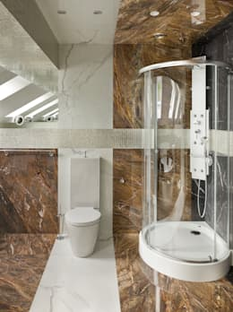 «Золотая резиденция в поселке Репино» 600м. кв.: Ванные комнаты в . Автор – FullHouseDesign
