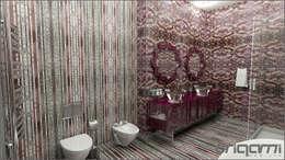Origami Mobilya – Bakü Projesi Banyo Tasarımı: eklektik tarz tarz Banyo