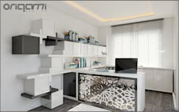 eclectic Study/office by Origami Mobilya