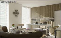 Origami Mobilya – Ofis Tasarımı: eklektik tarz tarz Çalışma Odası