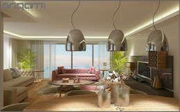 Origami Mobilya – Oturma Odası Tasarımı: modern tarz Oturma Odası