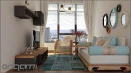 Origami Mobilya – Oturma Odası Tasarımı: eklektik tarz tarz Oturma Odası
