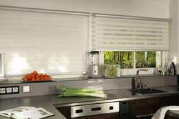 Armoni Perde Tasarım – Modern ve Sade Zebra Perde Modelleri: endüstriyel tarz tarz Mutfak