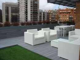 Terrasse de style  par Palos en Danza