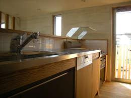 東中沢の家: 環境創作室杉が手掛けたキッチンです。