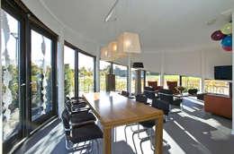 woning Teteringen, woonkamer: moderne Woonkamer door Florian Eckardt - architectinamsterdam