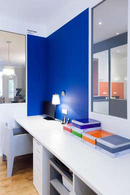 Appartement Lyon 03: Bureau de style de style Moderne par Tymeno