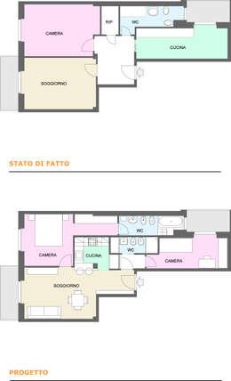 15 appartamenti di 70 m che sfruttano al massimo ogni centimetro - Progetto casa 70 mq ...