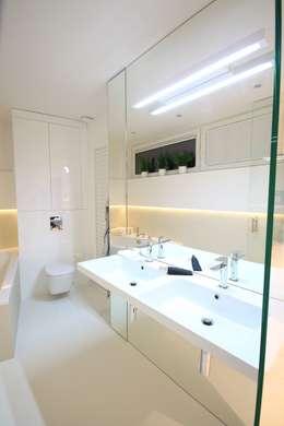 Łazienka prywatna przy sypialni: styl , w kategorii Łazienka zaprojektowany przez Orange Studio