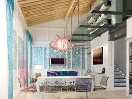 Salones de estilo ecléctico de riccaro fiorucci