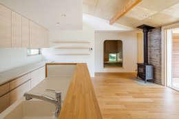 modern Kitchen by 株式会社 中山秀樹建築デザイン事務所