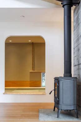 modern Media room by 株式会社 中山秀樹建築デザイン事務所