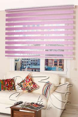 Perde Sepeti – Pembe Mor Bamboo Zebra Perde: modern tarz Pencere & Kapılar
