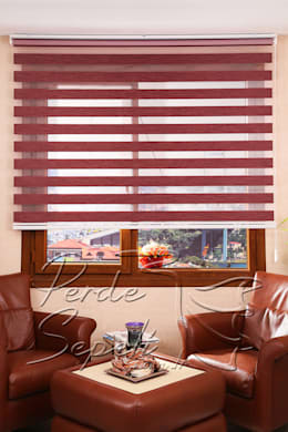 Perde Sepeti – Funda Bamboo Zebra Perde: modern tarz Pencere & Kapılar