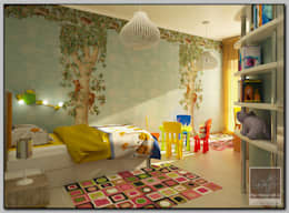 غرفة الاطفال تنفيذ Мастерская дизайна  LOFT