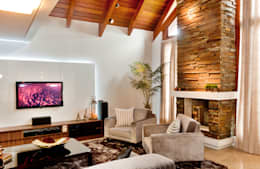 rustic Living room by ArchDesign STUDIO