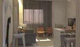 Santiago   Interior Design Studio 의  거실