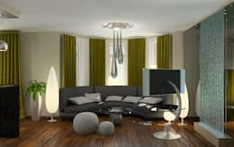Cottage in Eco style: Гостиная в . Автор – HandZart