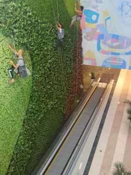 greenwall  - 23meter height: Centres commerciaux de style  par mb architects