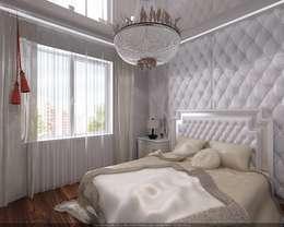 غرفة نوم تنفيذ Студия дизайна Натали Хованской