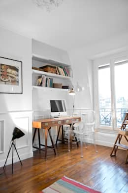 Oficinas de estilo rústico por Cocottes Studio