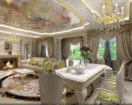 Гостиная: Гостиная в . Автор – Студия дизайна RichArt