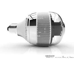 BW 1.1  L'ampoule connectée, détecteur de fumée: Couloir et hall d'entrée de style  par CedriCcaron