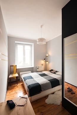 Projekt mieszkania: styl , w kategorii Sypialnia zaprojektowany przez Za murami za dachami