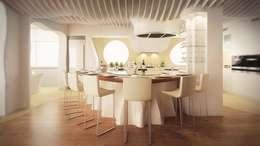 Cocinas de estilo moderno por EXA4 AEC Soft & Services